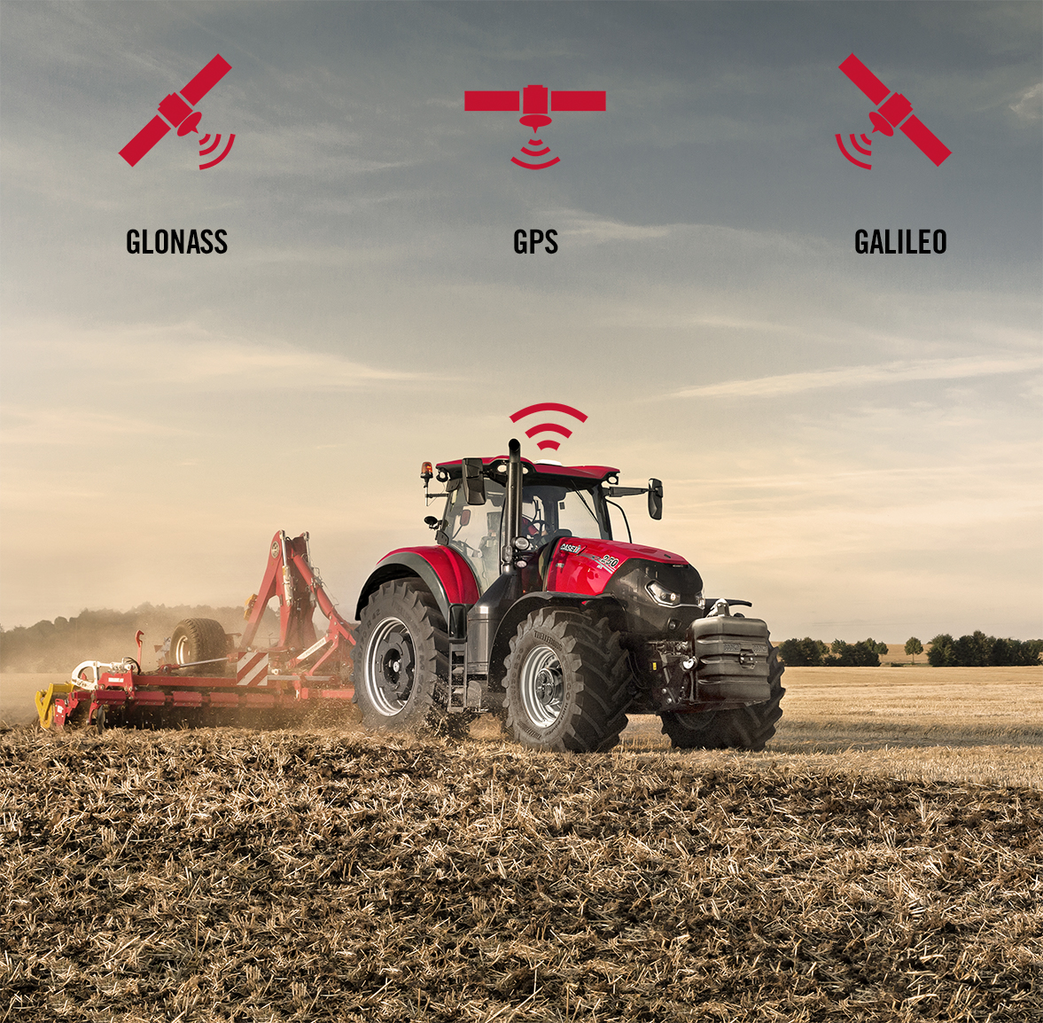 CNHi machinery manufacturer is now Galileo capable through Case IH