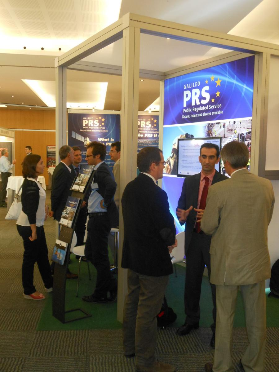 The GSA stand attracted strong interest at the Barcelona PMR summit.