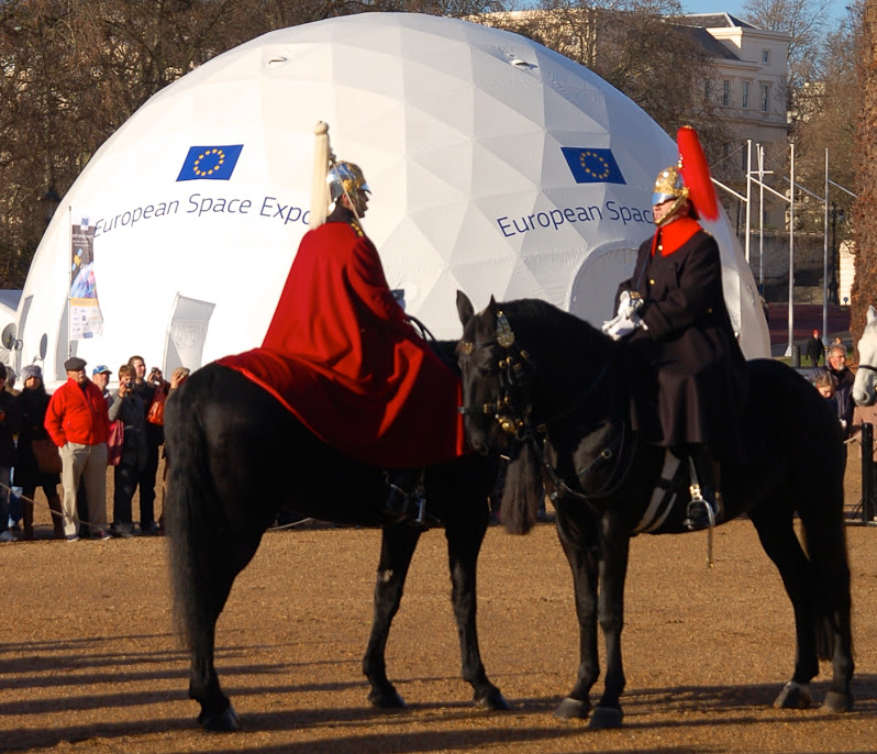 The Space Expo was held in London's Horse Guards Parade