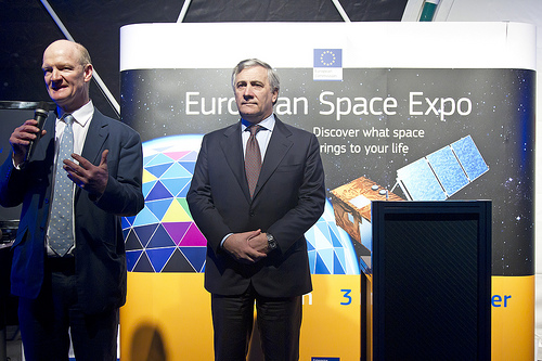 David Willetts, Science Minister and Antonio Tajani, Vice President of the European Commission. © bisgovuk