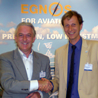Aurigny Managing Director Malcolm Hart with Hans de With. ©Donna Reay