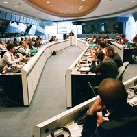 The social and public services session at Galileo Application Days gathered representatives from some of the main industrial players in the GNSS sector. © Peter Gutierrez