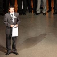 José Caro Ramon accepted the Galileo Master Prize on behalf of GMV. © Simone Hörmann