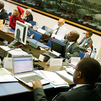 EU and AU officials meet with potential users at second EGNOS and Africa Stakeholders' Workshop © Peter Gutierrez