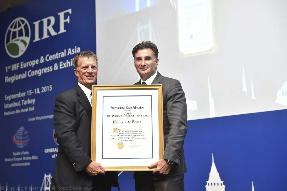 Recently, SkyToll won the Traffic Management and ITS category at the inaugural International Road Federation (IRF) Europe & Central Asia Regional Congress.