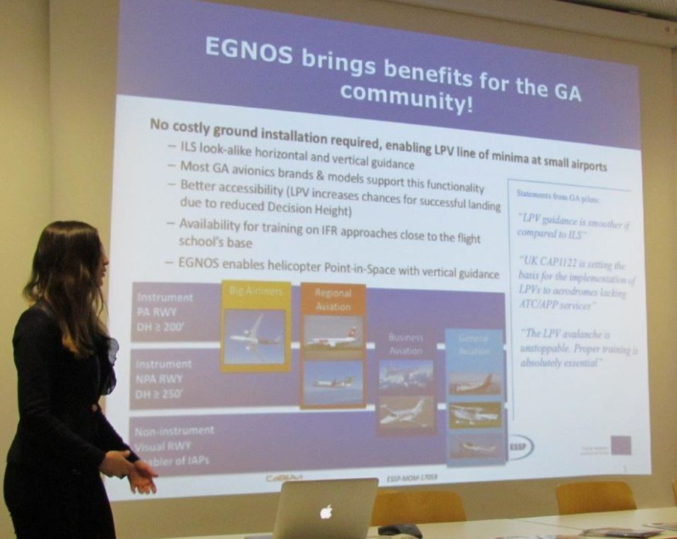 Katerina Strelcova , GSA Market Development Innovation officer, outlines the benefits of EGNOS at AERO 2017.