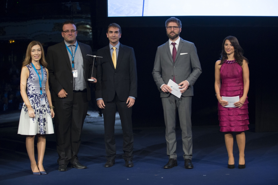The Drones2GNSS project was awarded the GSA Special Topic Prize during last night's annual European Satellite Navigation Competition (ESNC) ceremony, part of the Satellite Masters Conference in Madrid. ©AZO/ A. Valdenebro