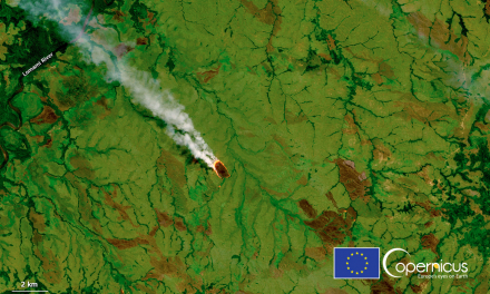 Agricultural fires in the first half of 2021 in Democratic Republic of Congo, taken by Copernicus Sentinel-2 satellite. Credit: DG DEFIS