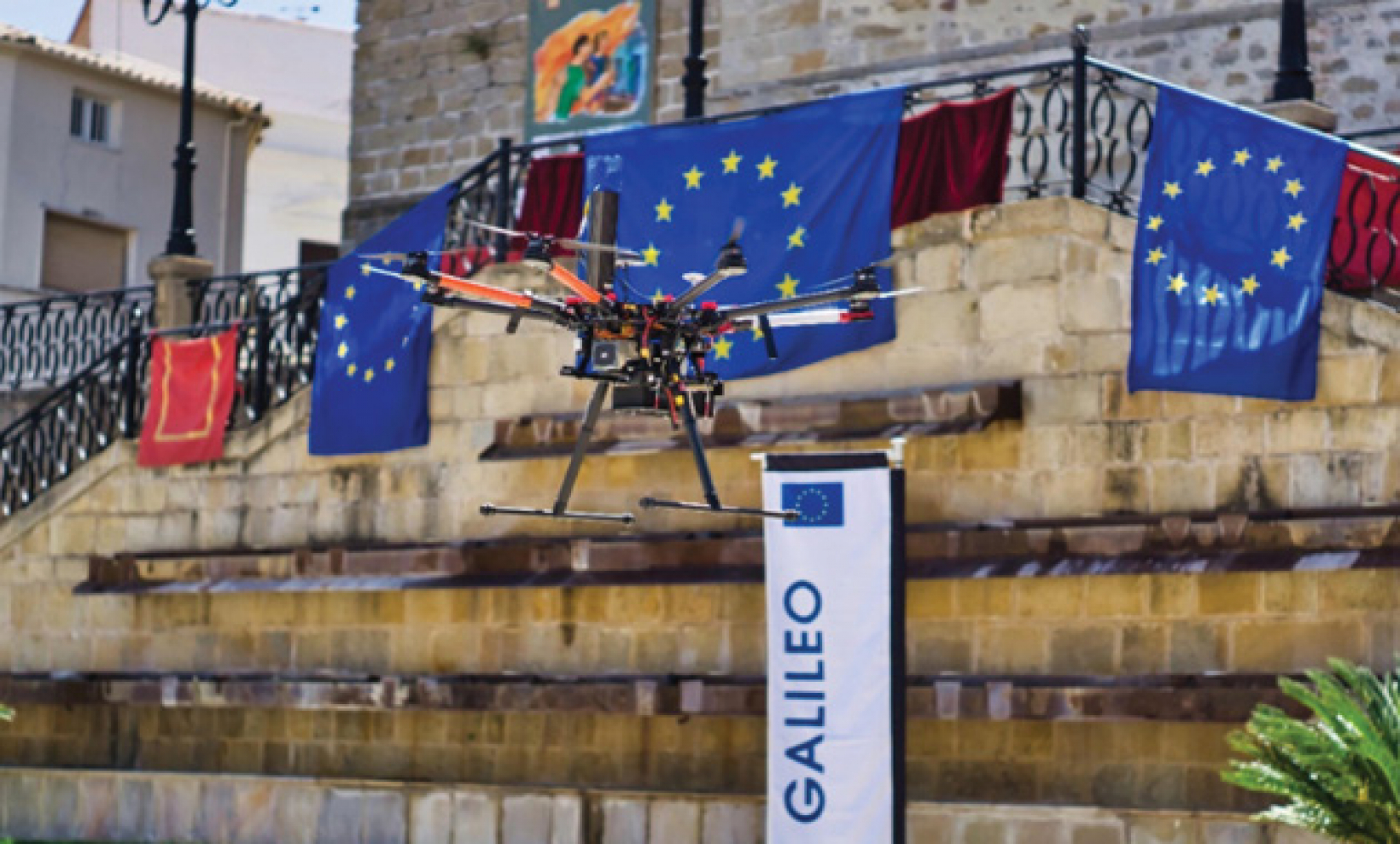 EGNSS-enabled drone flying in the urban environment of Villacarrillo, Spain