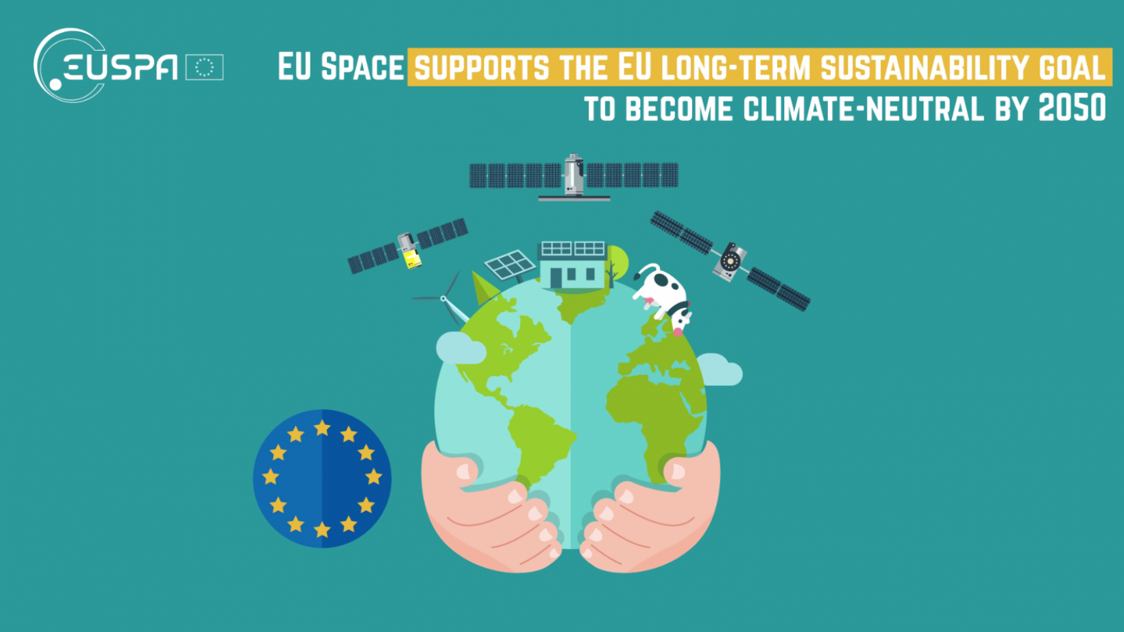 """Starting on Monday 19 July 2021, join the """"#EUSpace 4 our Planet'' campaign, and help us raise awareness on the contribution of the EU Space Programme to the EU Green Deal."""