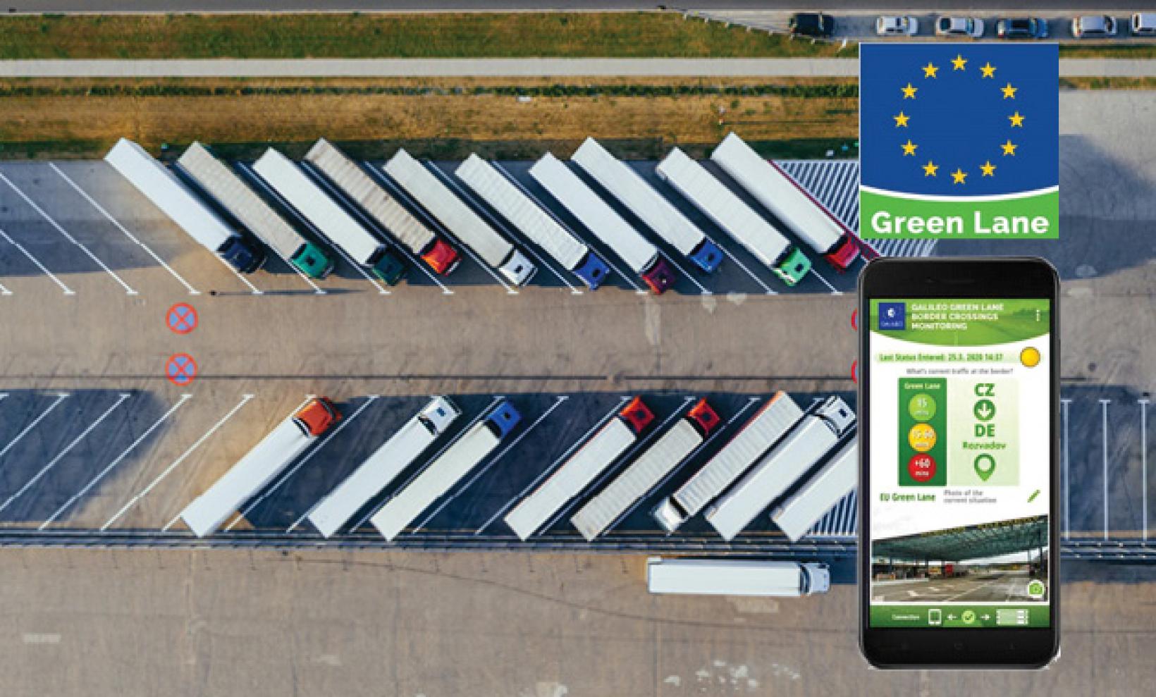 Galileo Green Lane will help reduce freight bottlenecks at EU borders