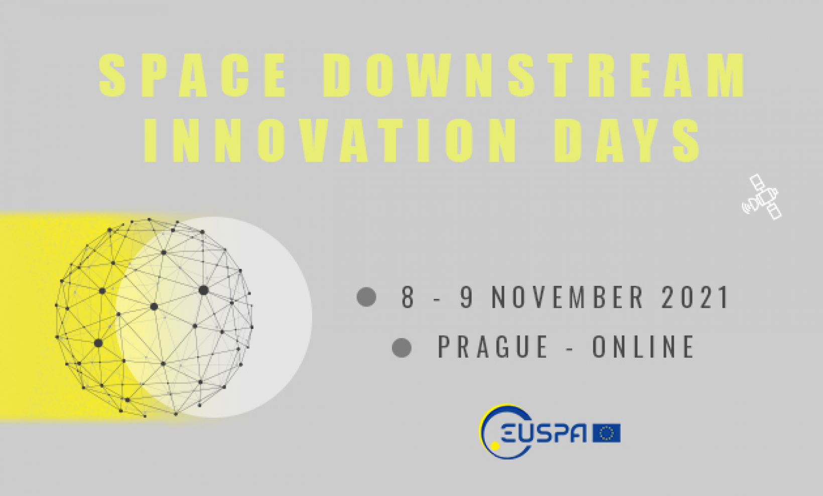 EUSPA Space Downstream Innovation Days will take place in a hybrid format on 8-9 November