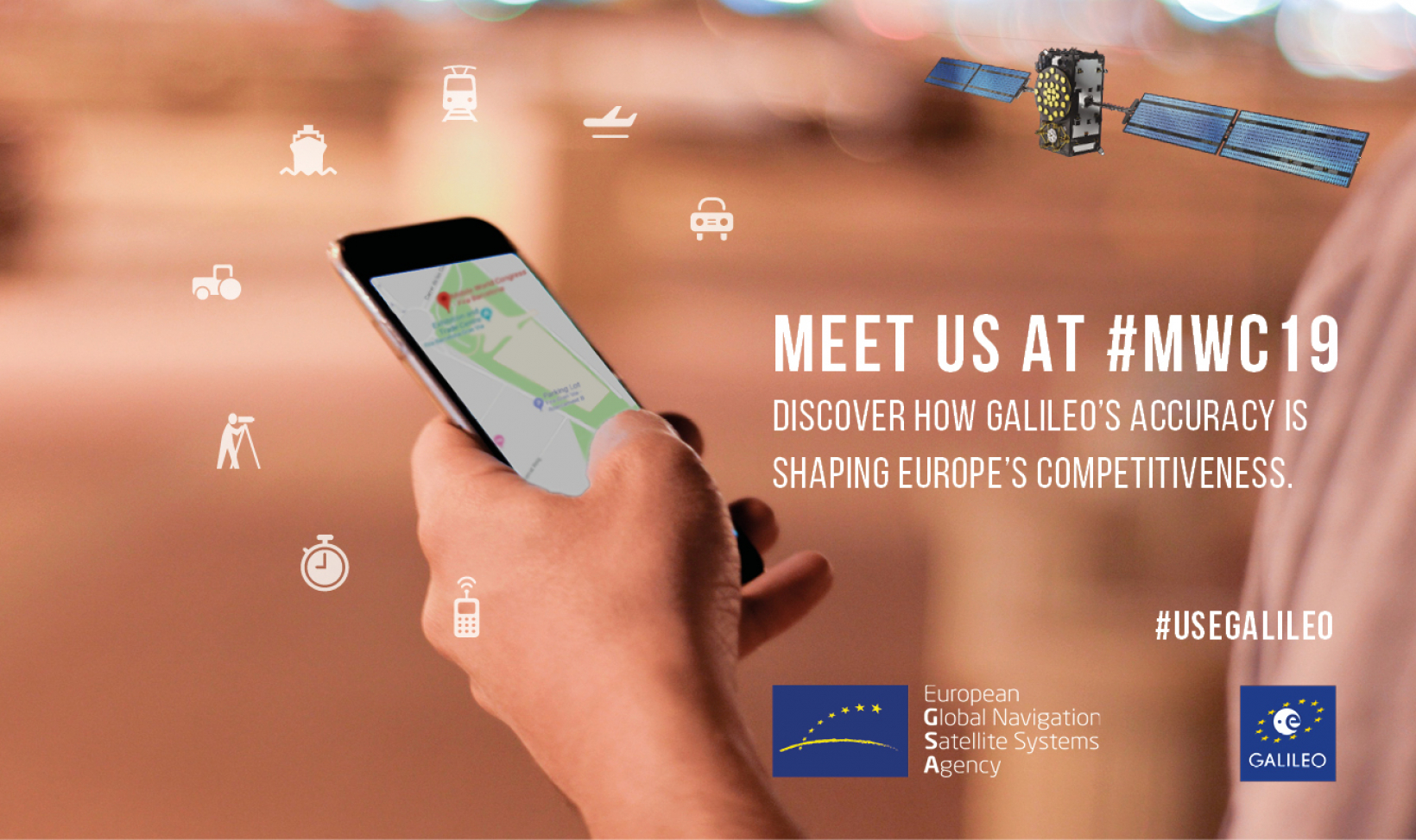 The Galileo Booth at MWC 2019 will showcase several Horizon 2020 funded, Galileo-based innovations.