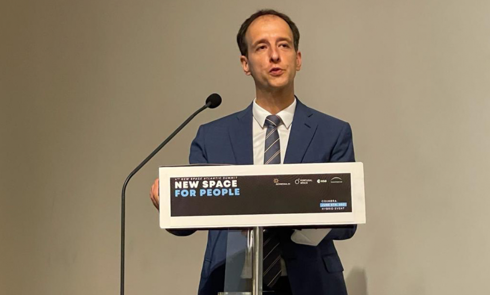 EUSPA Executive Director Rodrigo da Costa spoke at the opening session of the New Space Atlantic Summit.