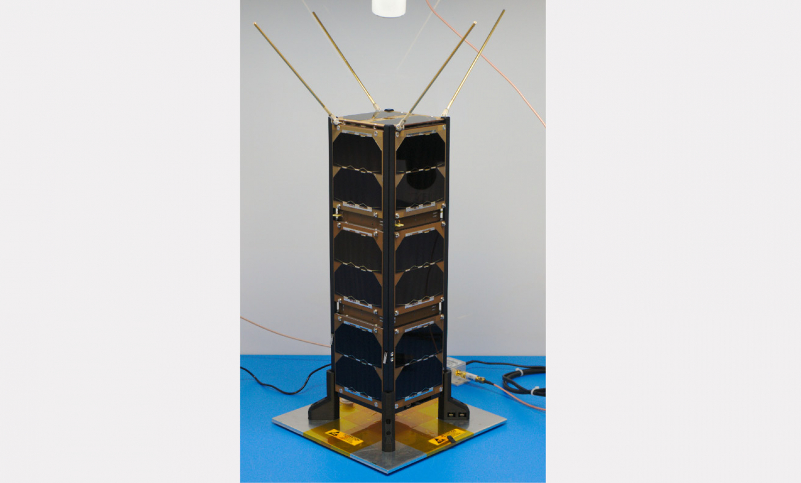 QN400-Space in GomSpace SDR and cubesat of University of Ohio Image, © Courtesy of Ohio University