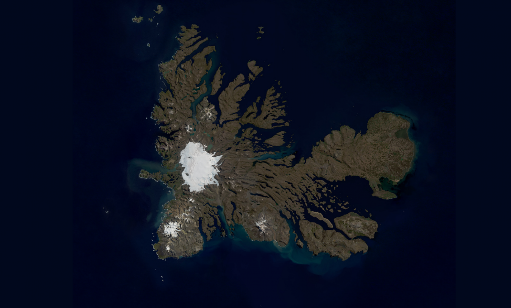 Considered one of the Earth's most isolated islands, Kerguelen Islands are still part of Europe.  pic taken by Copernicus! Photo taken by Copernicus Sentinel-2