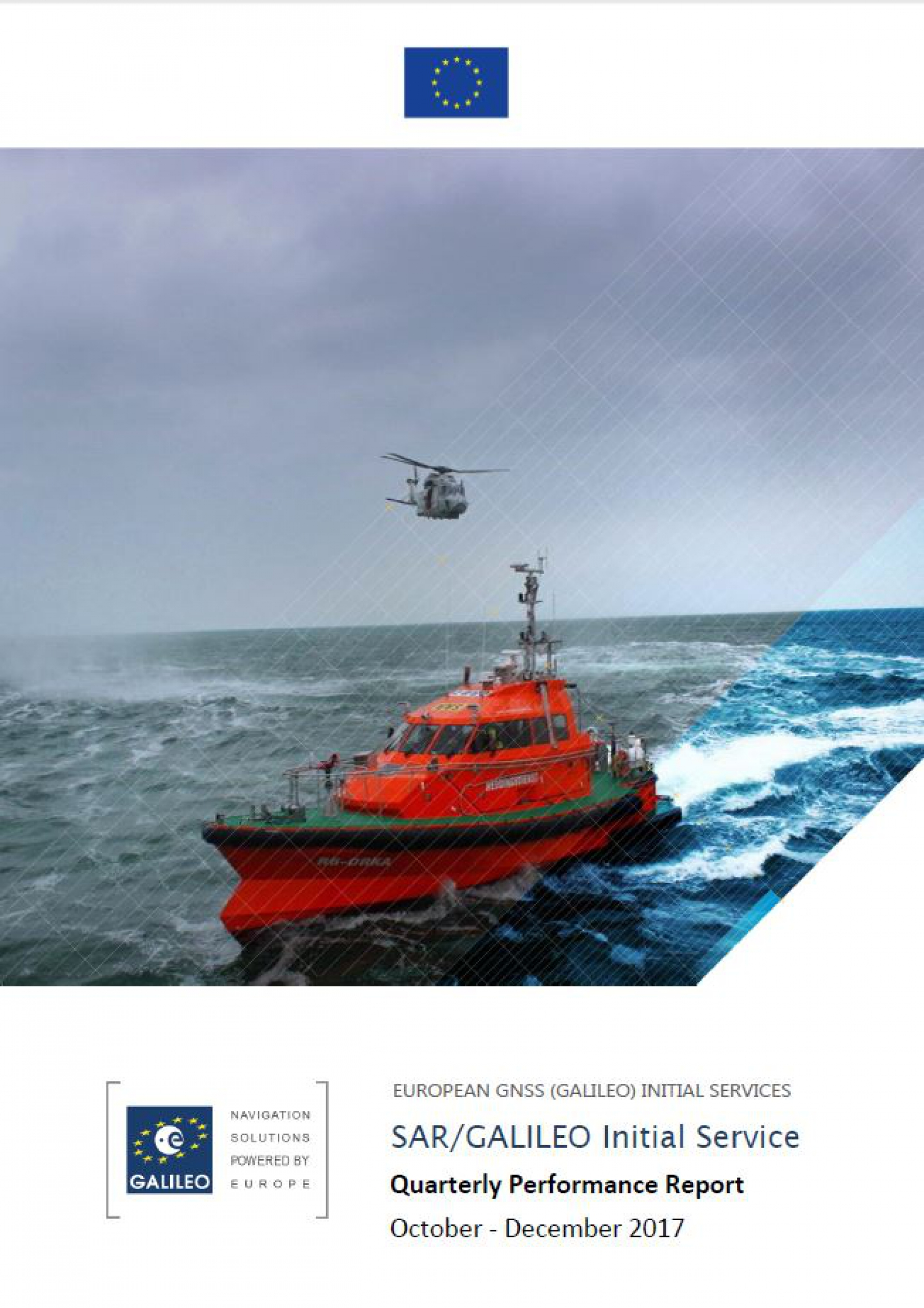 Galileo Initial Open Service and SAR Service performance figures exceed Minimum Performance Level targets in Q4.
