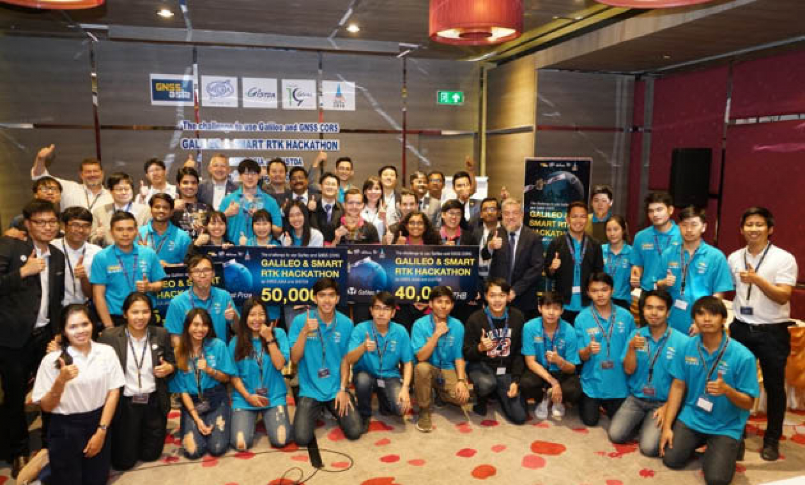 The hackathon brought together a large group of participants from a wide range of disciplines.