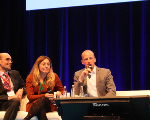 The GSA's Fiammetta Diani (centre) told the conference that GNSS is ready to meet augmented reality's needs in terms of ubiquity, accuracy and security.