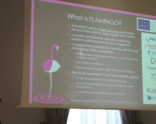 FLAMINGO will deliver high accuracy and reliable positioning and navigation services for the mass market