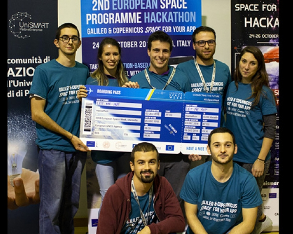 +39 team at the 2nd EU Space Programmes Hackathon
