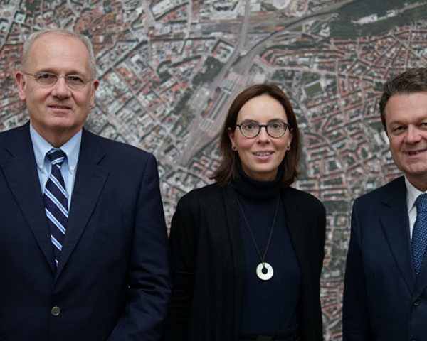 Jean-Yves Le Gall, Madame de Montchalin and Carlo des Dorides at GSA headquarters