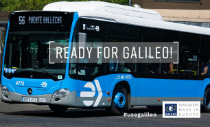 Galileo accuracy is helping EMT Madrid to improve their services.