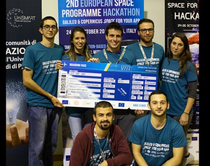 +39 team at the 2nd EU Space Programmes Hackathon