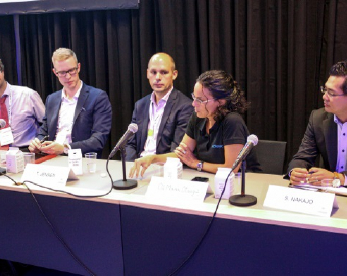 Panel discussing the role of GNSS in autonomous driving at ITS World Congress 2018 in Copenhagen