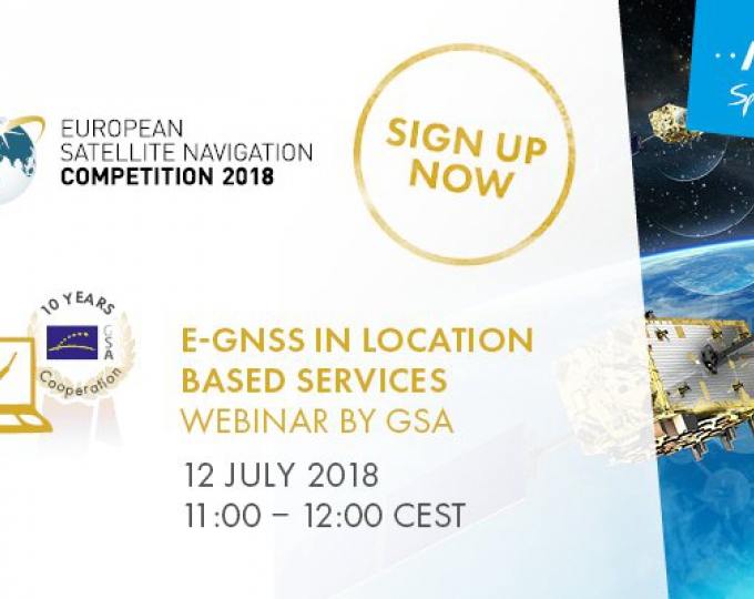 Sign up to learn all about E-GNSS in location based services.