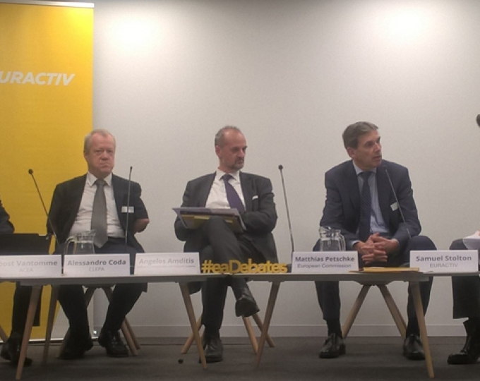 The high-level panel discussing Galileo contribution to autonomous driving.