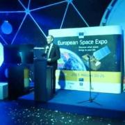 CLGE President Jean-Yves Pirlot at European Space Expo in Budapest. March 20th 2013